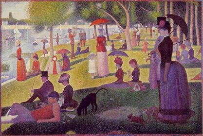 Georges Seurat's famous Sunday Afternoon on the Island of La Grande Jatte