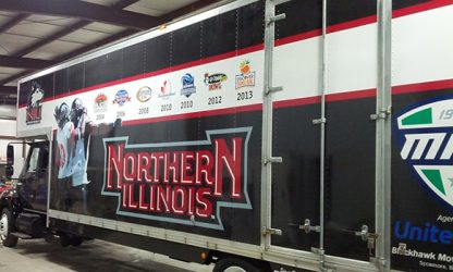 vehicle wrap on NIU truck