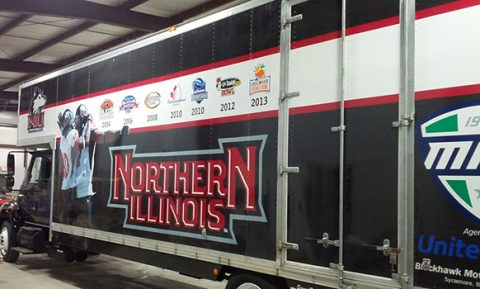 vehicle wrap on NIU truck